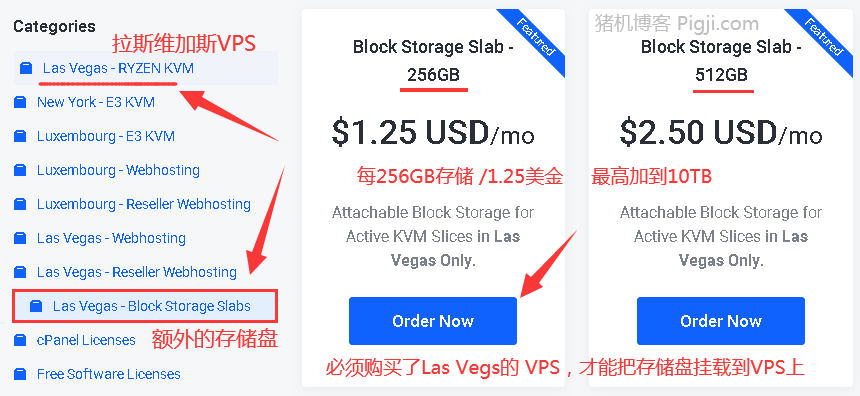 Frantech购买Block Storage Slabs,BuyVM挂载存储盘方法教程! 256G只要1.25美元